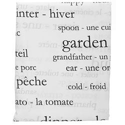 250 French Words Shower Curtain