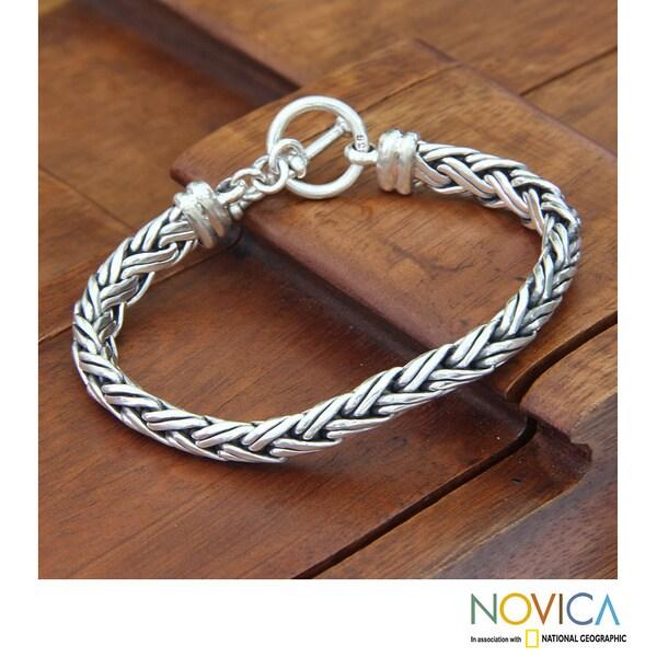 Sterling Silver 'Connected Lives' Bracelet (Indonesia)