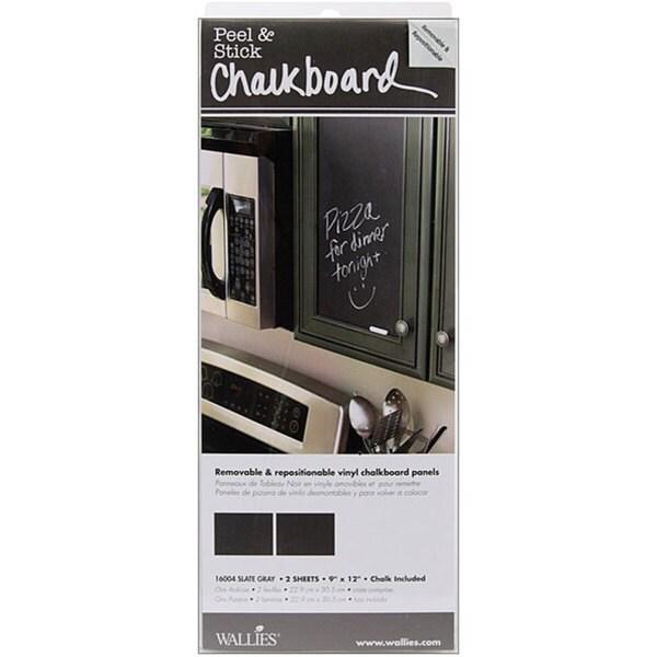 Wallies Peel and Stick 'Slate Grey' Chalkboard Panels (Pack of 2)