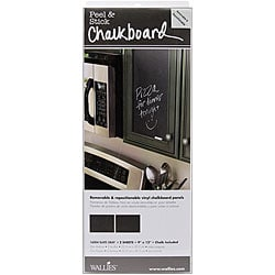 Wallies Peel and Stick 'Slate Grey' Chalkboard Panels (Pack of 2)