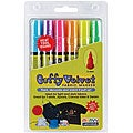 Puffy Velvet 3 mm Fluorescent Fabric Markers (Pack of 6)