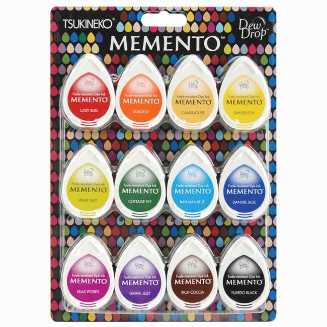 Memento Dew Drop Dye Ink Pad (Pack of 12)