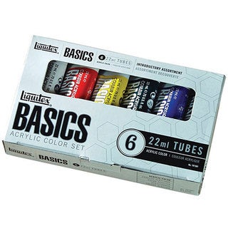 Liquitex Basics 6 Colors Acrylic Paint Tubes