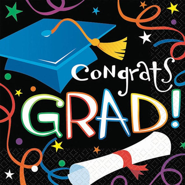 Super Value 'Graduation' Beverage Napkins (Pack of 100) 4247113