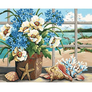 Paint By Number Large 'Seaside Still Life' Kit