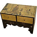 Traditional Calligraphy Two-drawer Chest (China)