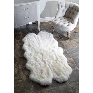 nuLOOM Alexa Quatro Sheepskin Wool Four Pelt Shag Rug