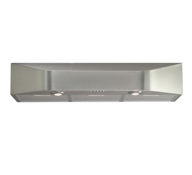 Brushed-Stainless-Steel 36-Inch Under-Cabinet Kitchen Range Hood