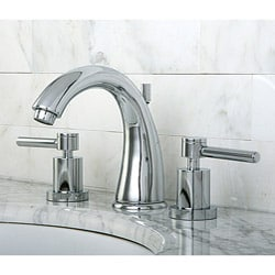 Concord Widespread Chrome-Finish Brass Bathroom Faucet