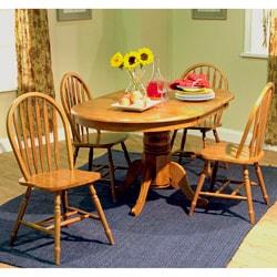 Simple Living Farmhouse 5-piece Oak Dining Set
