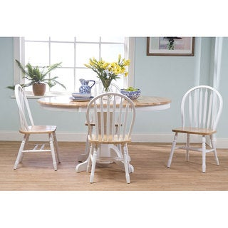 Farmhouse 5-piece White/ Natural Dining Set