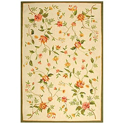 Hand-hooked Garden Ivory Wool Area Rug (8'9 x 11'9)