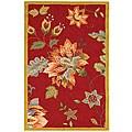Safavieh Hand-hooked Botanical Red Wool Runner (2'6 x 4')