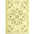 Safavieh Hand-hooked Bedford Ivory/ Green Wool Rug (8'9 x 11'9)