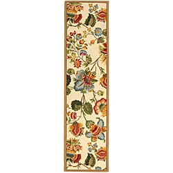 Safavieh Hand-hooked Transitional Ivory Wool Runner (2'6 x 10')
