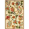 Hand-hooked Transitional Ivory Wool Rug (5'3 x 8'3)