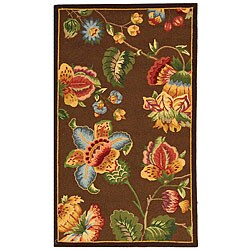Safavieh Hand-hooked Transitional Brown Wool Rug (2'9 x 4'9)
