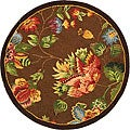 Safavieh Hand-hooked Transitional Brown Wool Rug (3' Round)