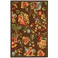 Safavieh Hand-hooked Transitional Brown Wool Rug (3'9 x 5'9)