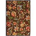 Safavieh Hand-hooked Transitional Brown Wool Rug (6' x 9')