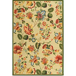 Safavieh Hand-hooked Transitional Sage Wool Rug (5'3 x 8'3)