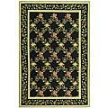 Safavieh Hand-hooked Garden Trellis Black Wool Rug (8'9 x 11'9)