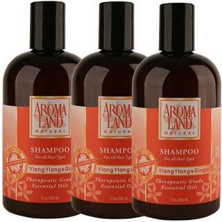 Aromaland Ylang Ylang and Ginger 12-ounce Shampoo (Pack of 3)