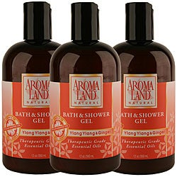 Aromaland Ylang Ylang and Ginger 12-ounce Shower Gel (Pack of 3)