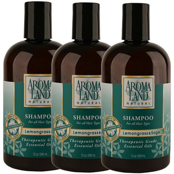 Aromaland Lemongrass and Sage 12-ounce Shampoo (Pack of 3)