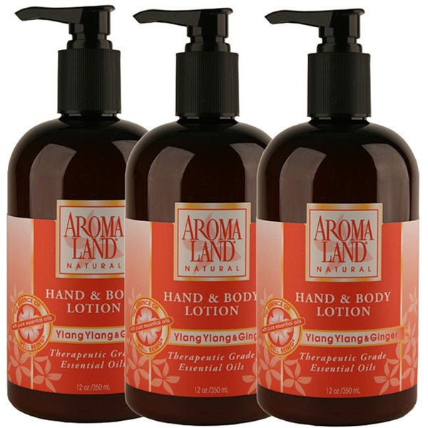 Aromaland Ylang Ylang and Ginger 12-ounce Body Lotion (Pack of 3)