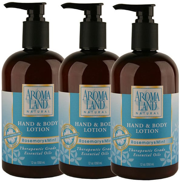 Aromaland Rosemary and Mint 12-ounce Body Lotion (Pack of 3)