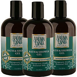 Aromaland Lemongrass and Sage 12-ounce Shower Gels (Pack of 3)