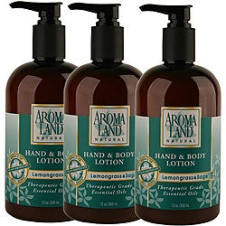 Aromaland Lemongrass and Sage 12-ounce Body Lotion (Pack of 3)