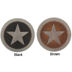 Boston Traveler Unisex Leather Star Belt Buckle