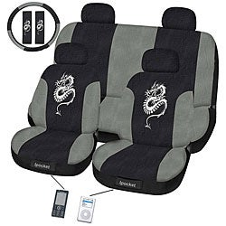 Dragon Grey 11-piece Universal Fit Seat Cover Set (Airbag-friendly)