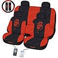 Dragon Red 11-piece Universal Fit Seat Cover Set (Airbag-friendly)
