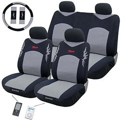Race Grey 11-piece Automotive Seat Cover