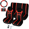 Super Speed Red 7-piece Universal Fit Seat Cover Set (Airbag-friendly)