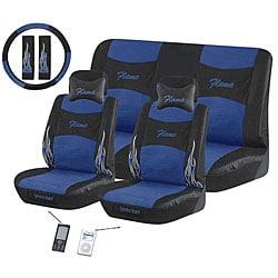 Flame Blue 11-piece Automotive Seat Cover Set