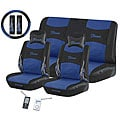 Flame Blue 11-piece Automotive Seat Cover Set