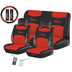 Flame Red 11-piece Automotive Seat Cover Set