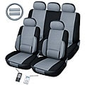 Lumbar Grey 12-piece Universal Fit Seat Cover Set (Airbag-friendly)