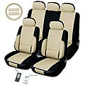 Lumbar Tan 12-piece Universal Fit Seat Cover Set (Airbag-friendly)