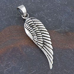 Sterling Silver 'Angel Wing' Pendant (Thailand)