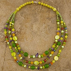 Triple-strand Semi-precious Necklace (Thailand)