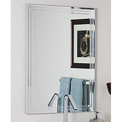 Frameless Tri-bevel Wall Mirror