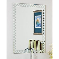 Frameless Checkmate Wall Mirror