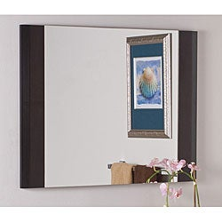 Espresso Wood Wall Mirror