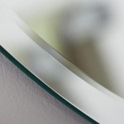 Frameless Oval Beveled Mirror