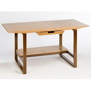 Breeze Desk with Wood Legs